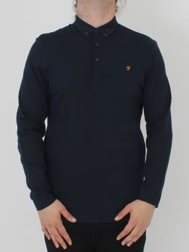 Stapleton L/Sleeve Polo - Navy