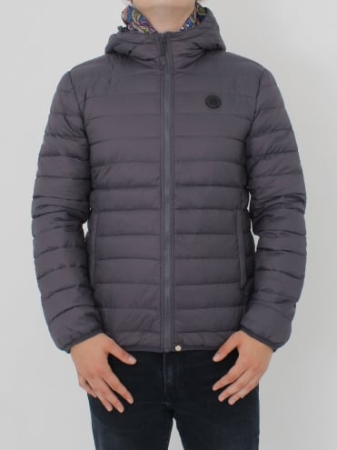 Barker Quilted Jacket - Grey