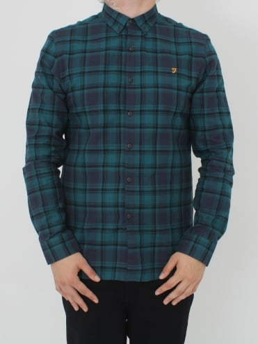 Waithe Slim Long Sleeve Shirt - Navy