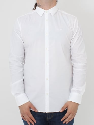 Stretch Poplin Slim Fit Shirt - White