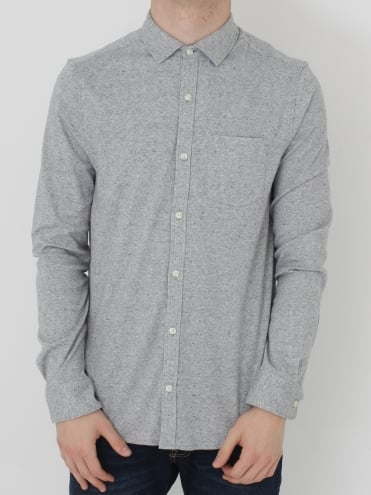 L/S Knitted Nep Shirt - Grey