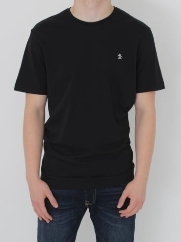 Pin Point Embroidery T.Shirt - Black