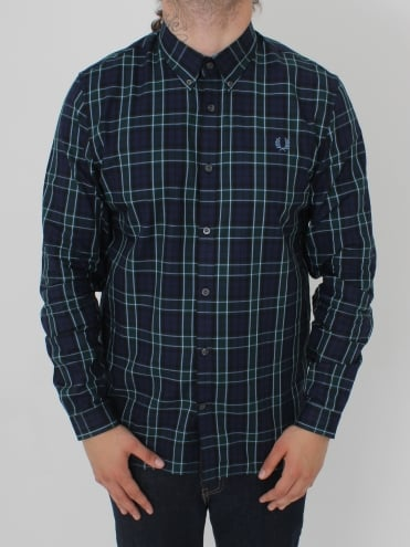 Fred Perry Enlarged Tartan Shirt - Navy