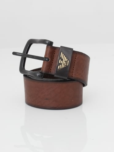 Logo Leather Belt - Tan