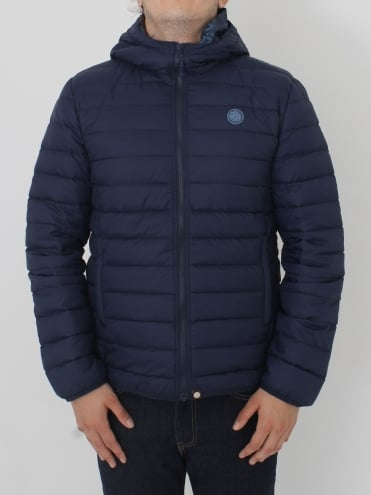 Barker Quilted Jacket - Navy