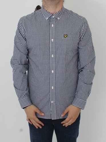 Gingham Shirt - Navy