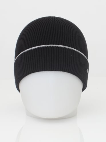 - BOSS Green Beanie Reflective Hat - Navy