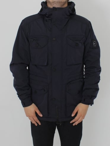 Liquid Nylon Snow Parka - Navy