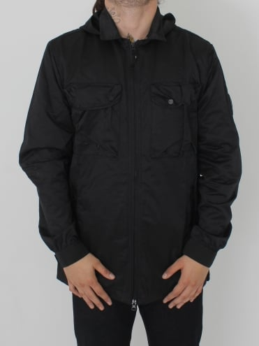 Pigment Dyed Overshirt - Black
