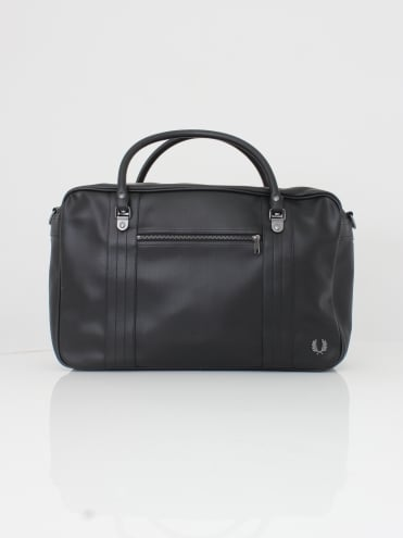 Pique Texture Overnight Bag - Black