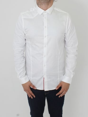 Butchers Pencil 2 Slim Shirt - White