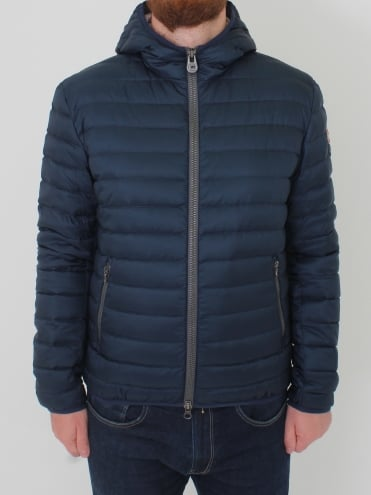Punk Hooded Down Jacket - Navy
