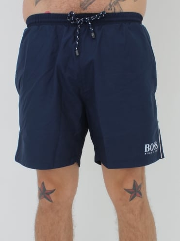 -Boss-Hugo Boss Starfish BM Swimshorts - Navy