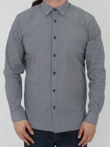 Kolma Core Print Shirt - Navy