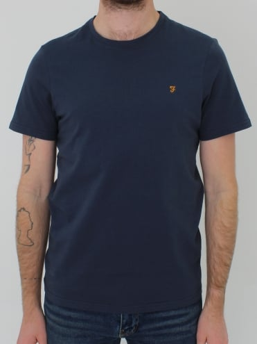 Denny Slim Solid T.Shirt - Navy