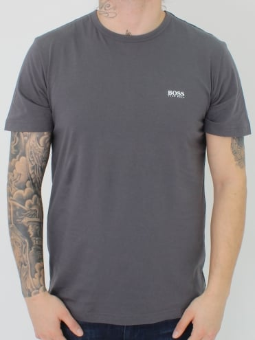 Basic Crew Neck Logo T-Shirt - Grey