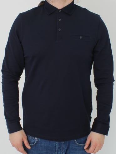 Scooby L/S Textured Polo - Navy
