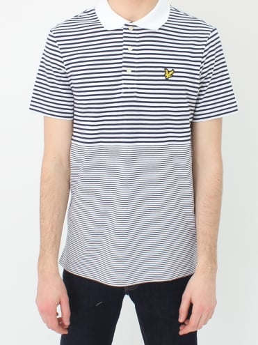 Stripe Polo - Navy