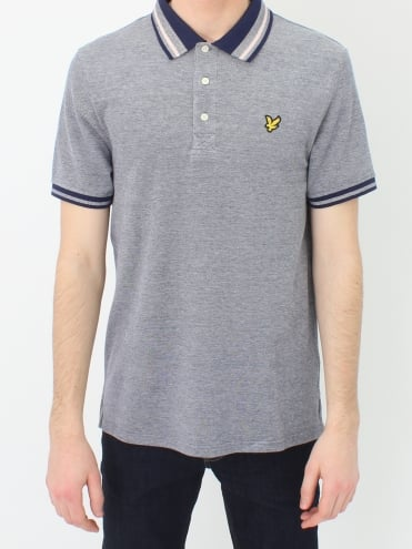 Oxford Tipped Polo - Navy