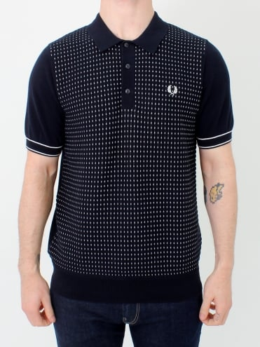 Jacquard Panel Knitted - Navy