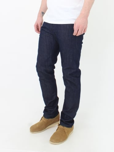 ED 55 12OZ Kingston Blue Denim - Blue Rinsed