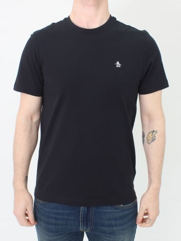 Pin Point Embroidered T-Shirt - Black