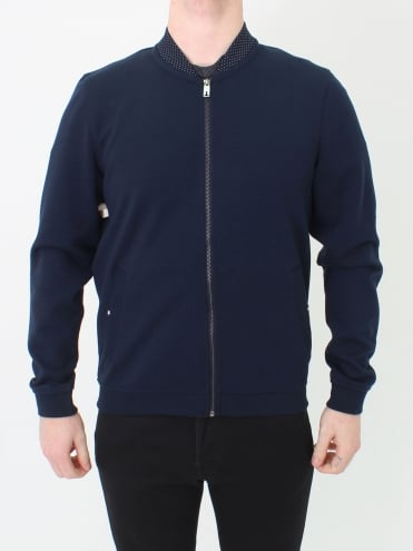 Wolf Bonded Jersey Sweat - Navy