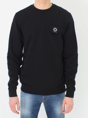 Training Crew Sweat - Jet Black