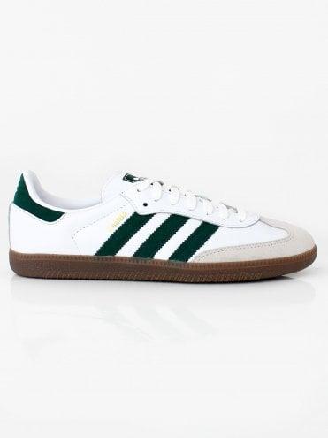 91d0f261ac47a3 Samba OG - White Green · adidas Originals ...