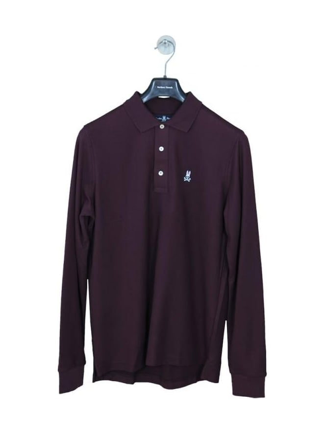 Psycho Bunny Classic Long Sleeve Polo - Port