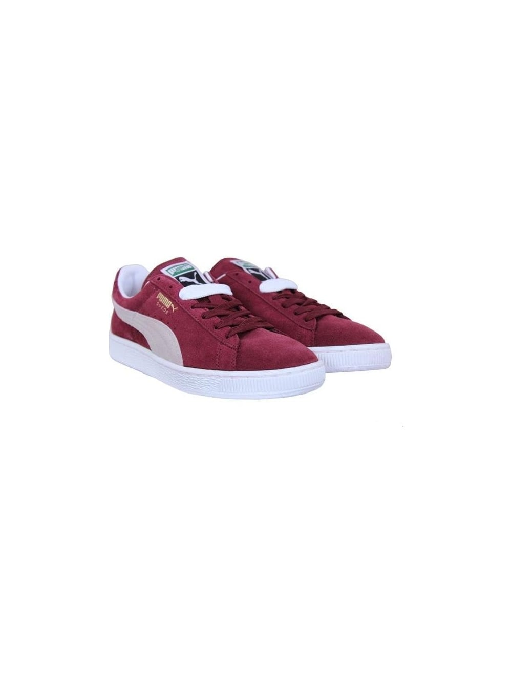 d45a2acb85c573 Puma Suede Classic Trainers in Burgundy - Northern Threads