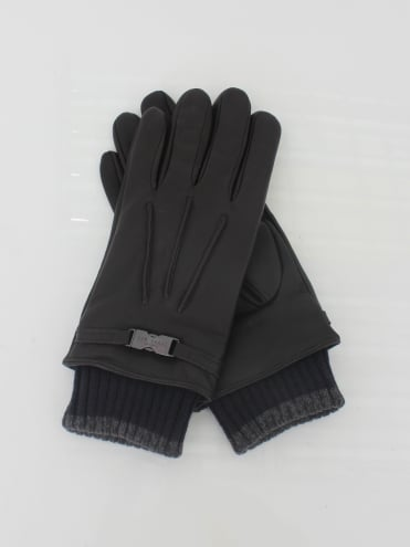 Quiff Cuff Leather Glove - Chocolate