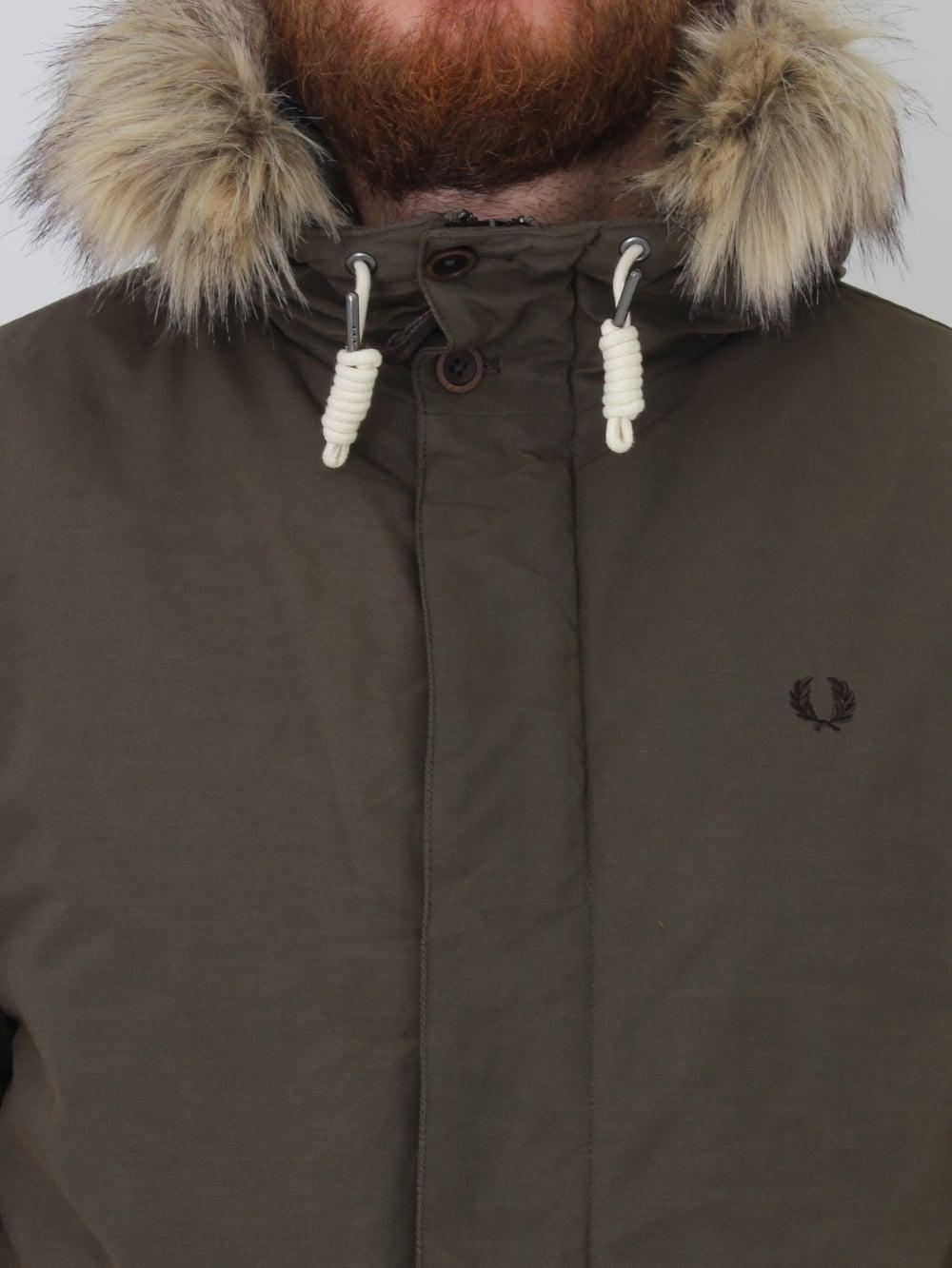 Quilted Fur Trim Parka - Wren