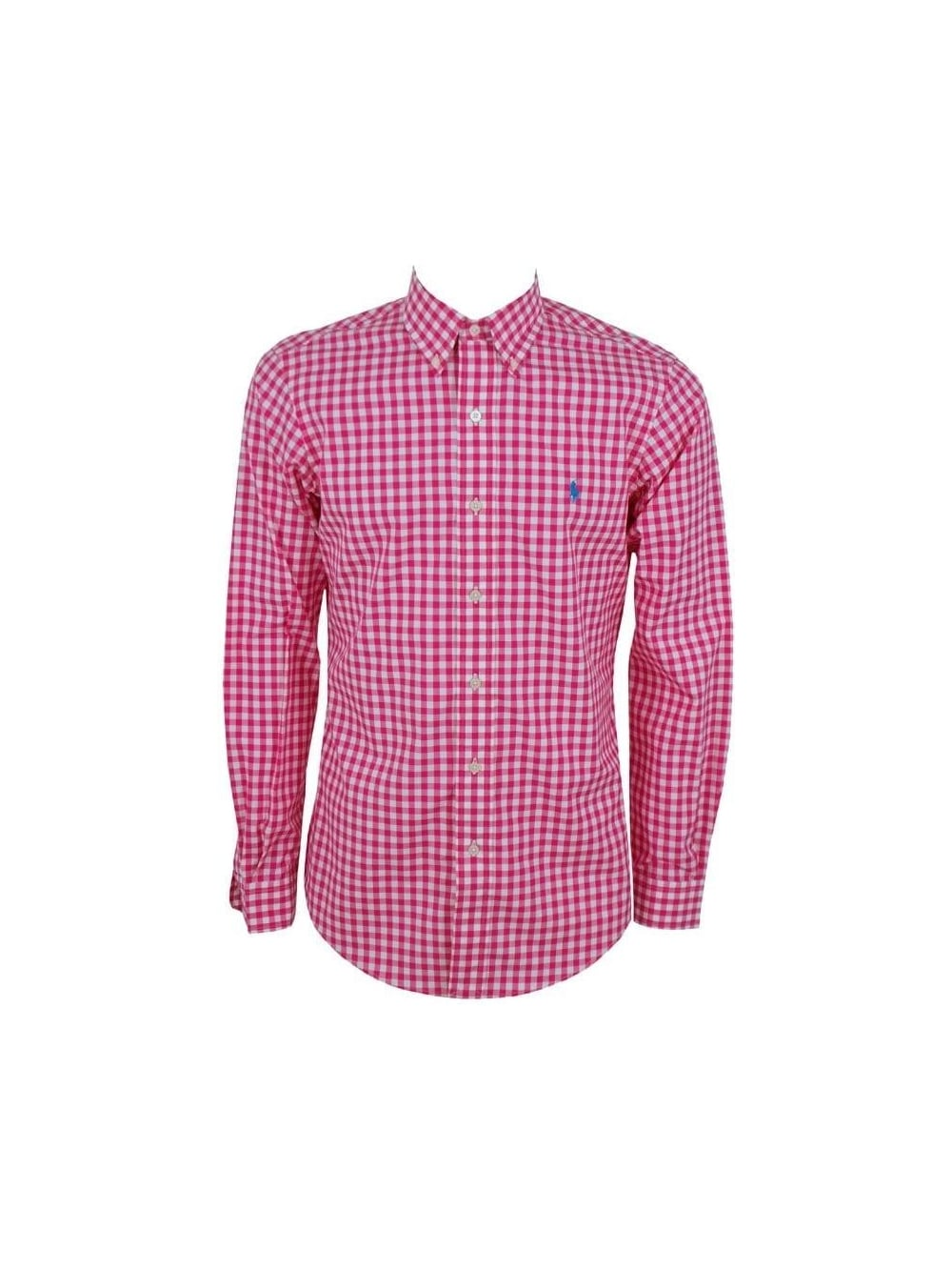 314c5a8f Ralph Lauren Custom Fit Cotton Twill Shirt in Magenta - Northern Threads