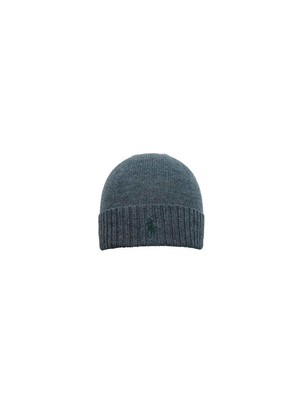 Ralph Lauren Merino Wool Hat in Grey - Northern Threads ccea13e4566