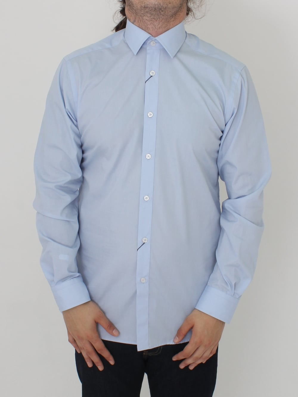 Remus Uomo Parker Tapered Shirt In Blue Light Northern Threads