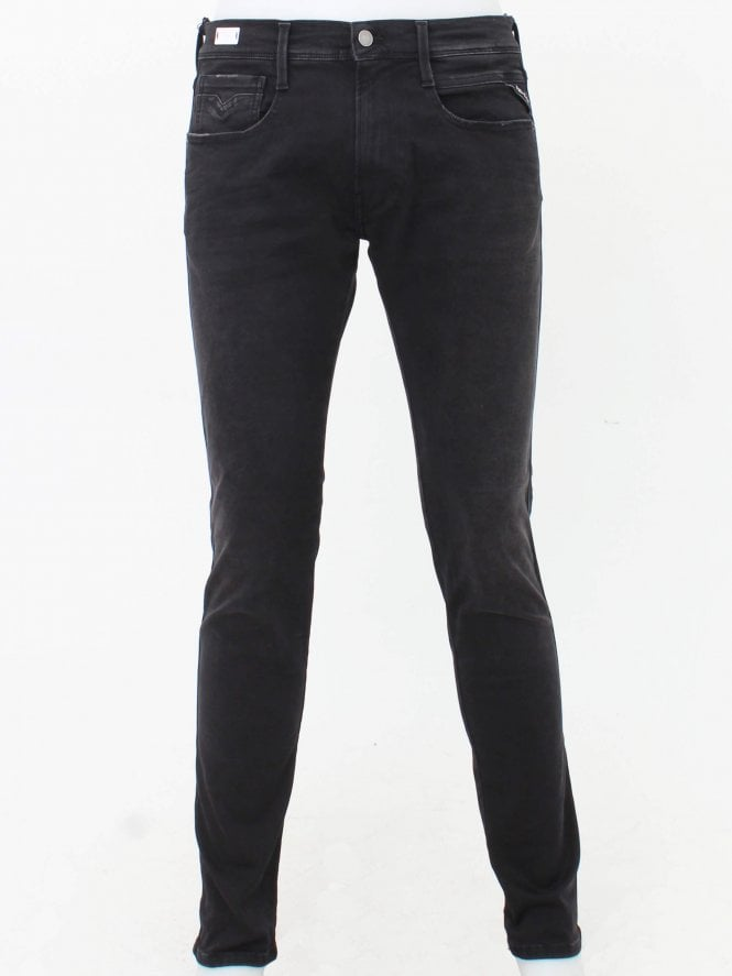 Replay Anbass Hyperflex Jeans - Black
