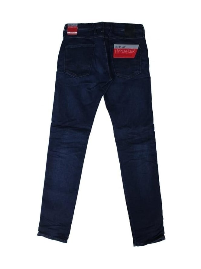 Replay Anbass Hyperflex Jeans - Dark Denim