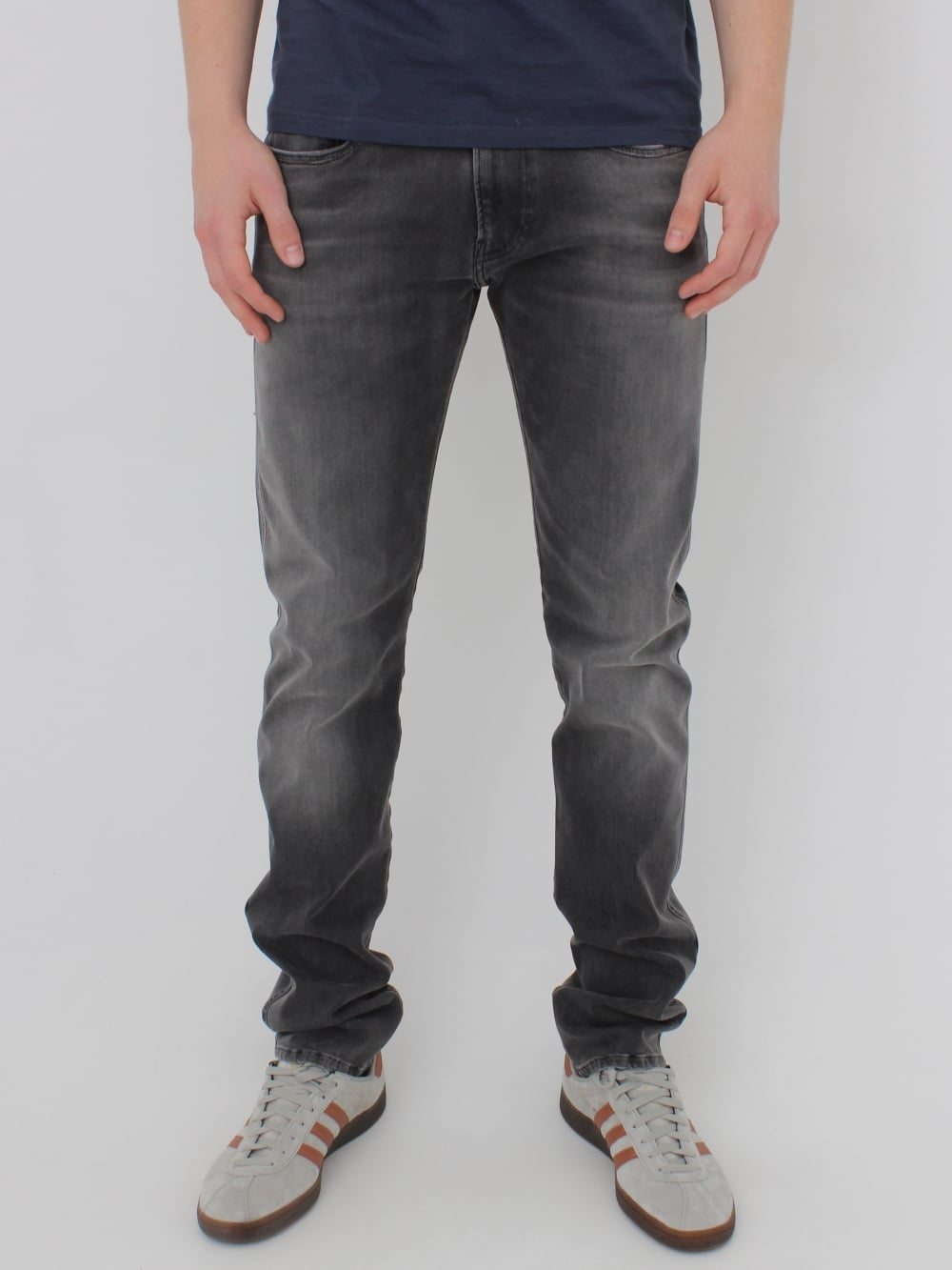 344bed9da6c067 Replay Anbass Hyperflex Jeans in Washed Black - Northern Threads