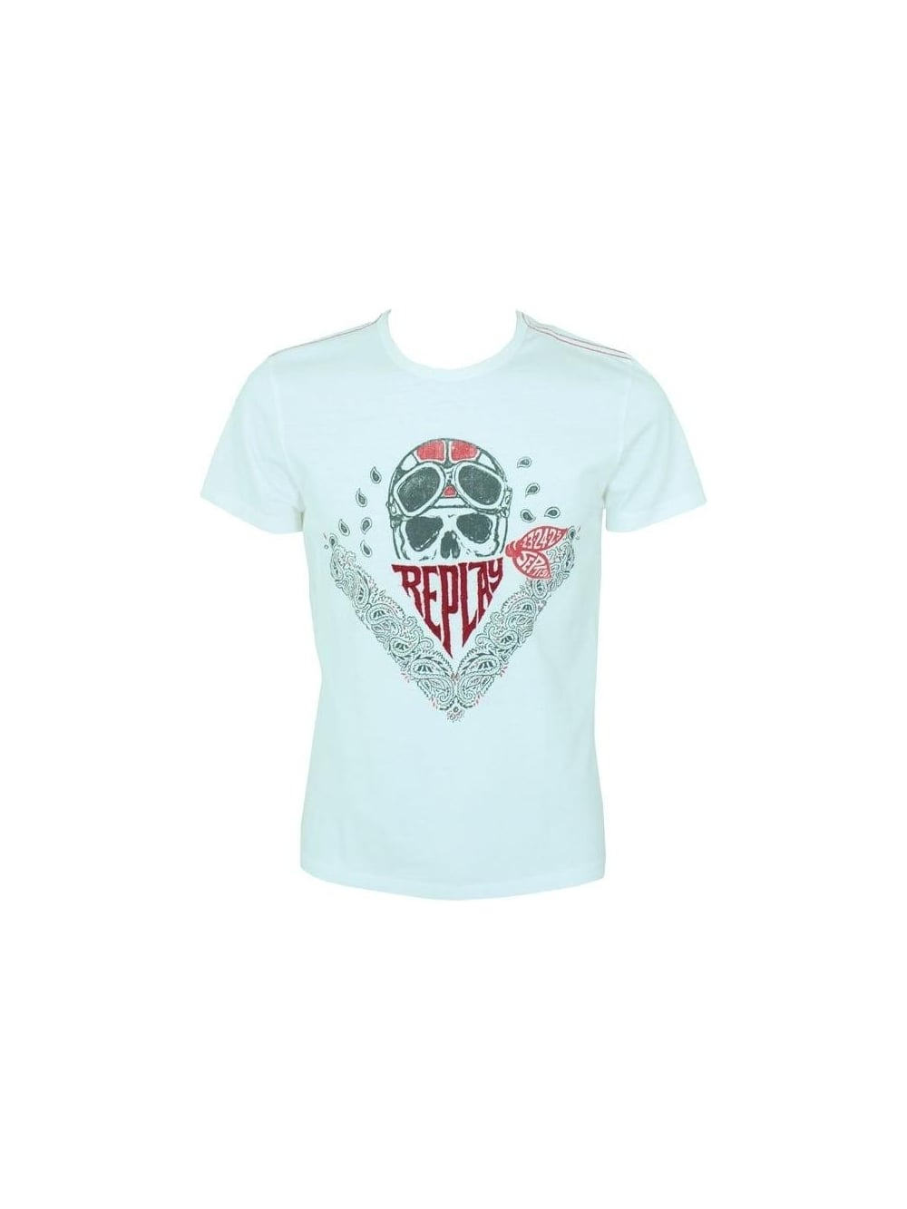 ea5d4babf Buy Replay Skull Print T Shirt in White - Buy Replay at Northern Threads