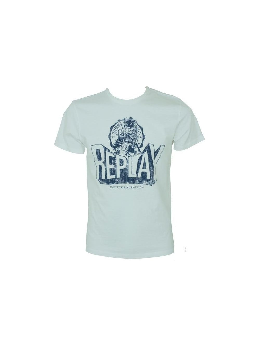 f0e4108b Replay Time Tested T.Shirt in White - Shop Replay at Northern Threads