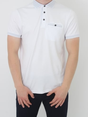 Rickee Solid Collar Polo - White