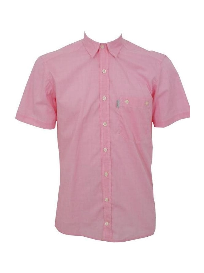 One True Saxon S/S Check Shirt - Pink