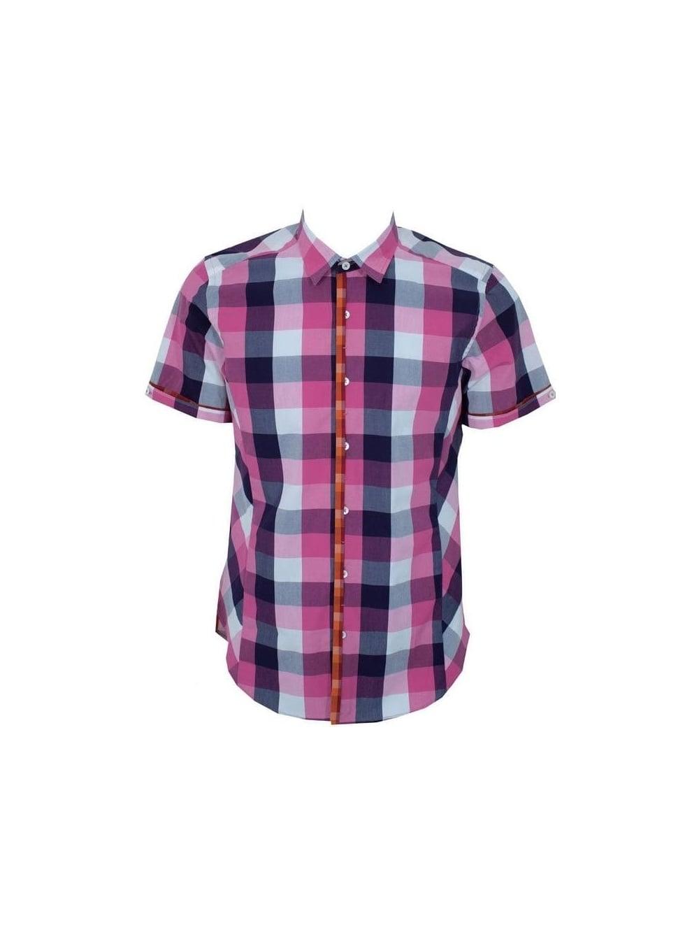 Ted Baker - Ted Baker Southga Check Shirt - Pink - Ted Baker Mens ...