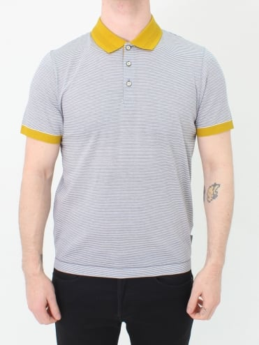 Beagle Ribstart Striped Polo - Grey