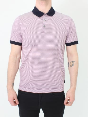 Beagle Ribstart Striped Polo - Purple