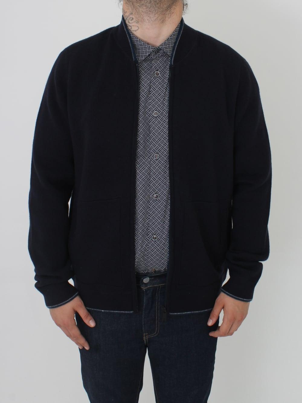 Ted Baker Capcino Zip Baseball Jacket in Navy - Northern Threads