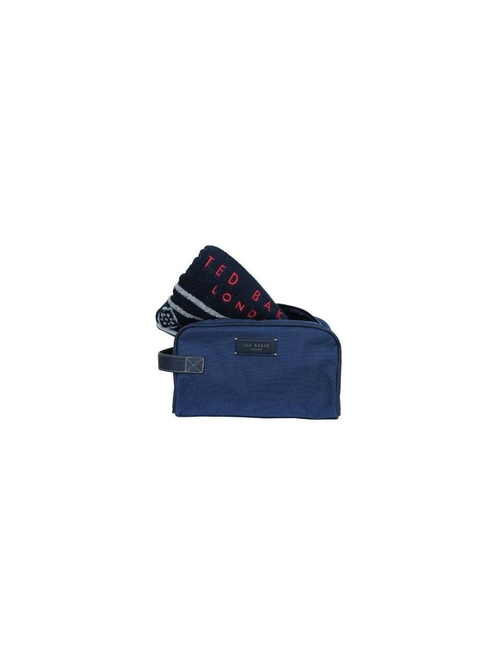 3827ab9d6b36 Ted Baker Getwash Wash Bag   Towel Set in Navy - Northern Threads