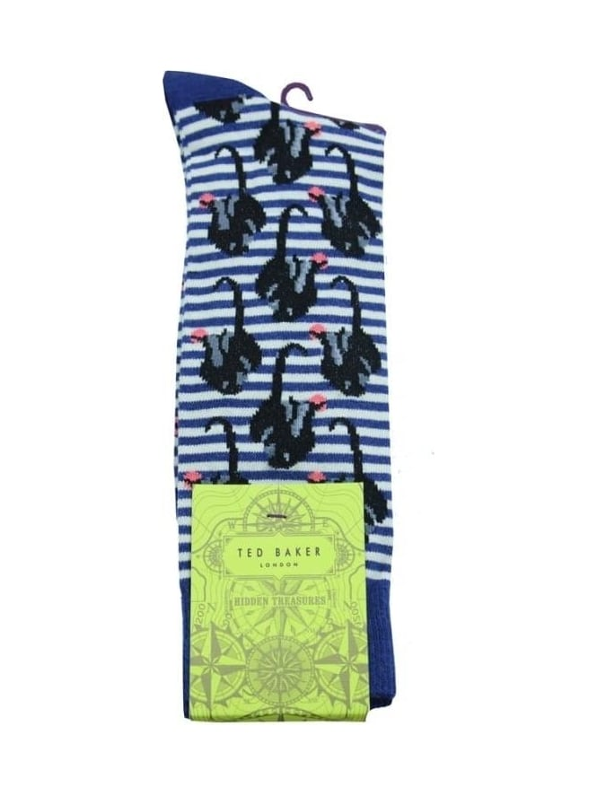 Ted Baker Monkeyz Organic Socks - Dark Blue