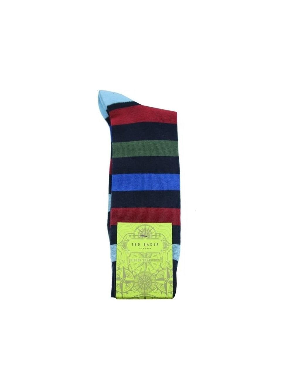 1b276dfd8 Ted Baker Onestre Organic Striped Socks in Navy - Northern Threads